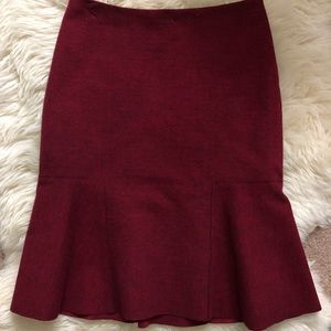 Gorgeous burgundy skirt